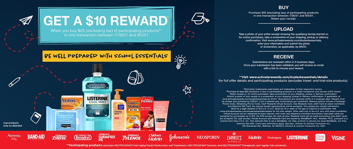 Get a $10 Reward When You Buy $25 Of Participating Products